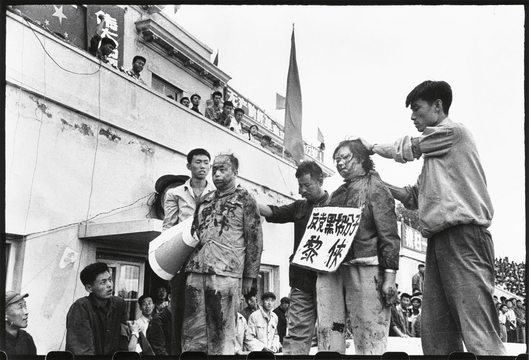 """Among the photos are numerous ones of """"struggle sessions,"""" in which people were criticized, abused, and made to stand for hours with their heads bowed before a sea of accusers. Credits: Li Zhensheng 