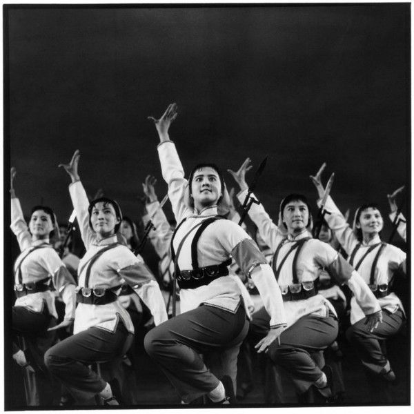 """The """"loyalty dance"""" was a fixture of China's Cultural Revolution, and Kang Wenjie's performance at a giant Maoist teach-in was boffo. Credits: Li Zhensheng 